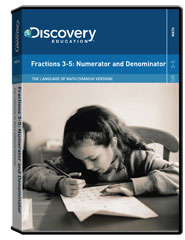 The Language of Math (Spanish Version): Fractions 3-5: Numerator and Denominator DVD