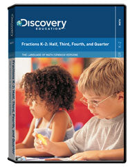 The Language of Math (Spanish Version): Fractions K-2: Half, Third, Fourth, and Quarter DVD