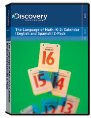 The Language of Math: K-2: Calendar (English and Spanish) 2-Pack DVD