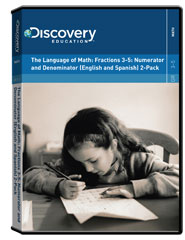The Language of Math: Fractions 3-5: Numerator and Denominator (English and Spanish) 2-Pack DVD