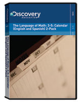 The Language of Math: 3-5: Calendar (English and Spanish) 2-Pack DVD