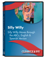 Silly Willy Moves through the ABCs, English  and  Spanish Version DVD
