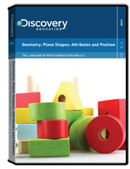 The Language of Math (Spanish Version): K-2: Geometry: Plane Shapes: Attributes and Position DVD