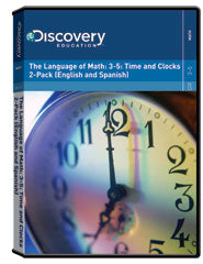 The Language of Math: 3-5: Time and Clocks 2-Pack (English and Spanish)