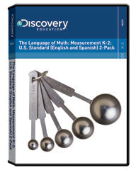 The Language of Math: Measurement K-2: U.S. Standard (English and Spanish) 2-Pack DVD