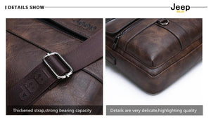 Jeep Buluo Leather Briefcase II - Bags By Benson