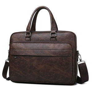 Jeep Buluo Leather Briefcase V - Bags By Benson