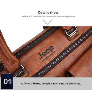 Jeep Buluo Leather Laptop - Bags By Benson