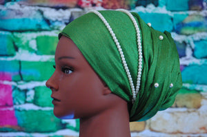 March headband -- two stranded faux pearl