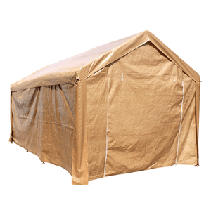 Aleko Carport ALEKO - Heavy Duty Outdoor Canopy Carport Tent - 10 X 20 FT - Beige