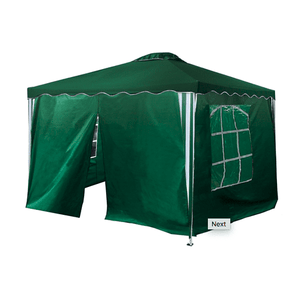 Aleko Gazebo ALEKO - Iron Foldable Gazebo Canopy - 4 Sidewalls - Oxford Fabric - 10X10 Feet - Green