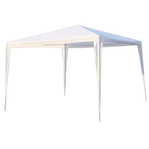 Aleko Gazebo ALEKO - Waterproof Gazebo Tent Canopy for Outdoor Events - 10x 10 Ft - White Color
