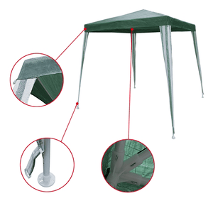 Aleko Gazebo ALEKO - Waterproof Gazebo Tent Canopy for Outdoor Events - Green Color