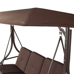 Aleko Patio Furniture ALEKO Canopy Patio Swing Bench with Pillows and Cup Holders