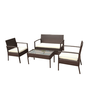 Aleko Patio Furniture ALEKO Linosa Outdoor Furniture and Coffee Table Set