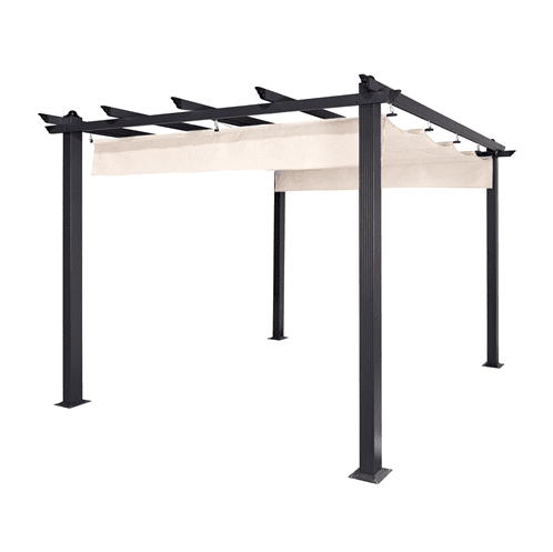 Aleko Pergola ALEKO - Aluminum Outdoor Canopy Grape Trellis Pergola - 9 x 9 Ft - White Color
