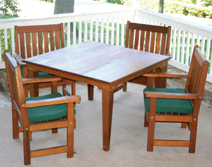 "Creekvine Designs Patio Furniture 36"" Table w/4 Chairs Creekvine Designs Cedar Get-Together Dining Set"