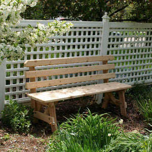 Creekvine Designs Patio Furniture 4' Bench Creekvine Designs Cedar Backed Bench