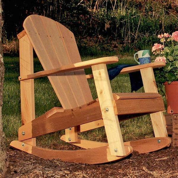 Creekvine Designs Cedar Adirondack Rocking Chair