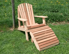 Creekvine Designs Patio Furniture Creekvine Designs Cedar American Forest Adirondack Chair & Footrest Set