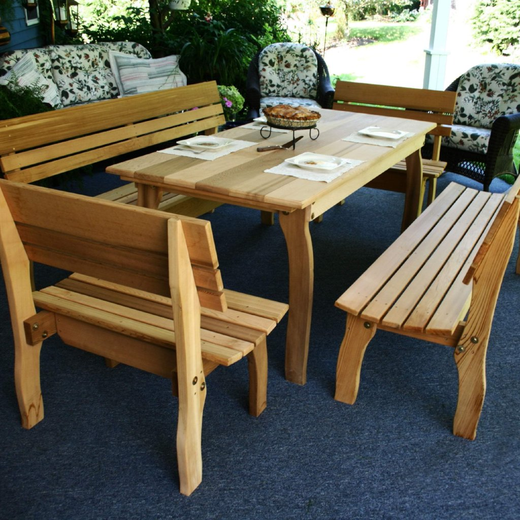 Creekvine Designs Patio Furniture Creekvine Designs Cedar Chickadee Dining Set