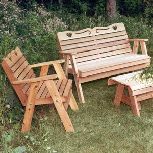 Creekvine Designs Patio Furniture Creekvine Designs Cedar Country Hearts Furniture Collection