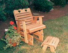 Creekvine Designs Patio Furniture Creekvine Designs Cedar Country Hearts Glider Collection