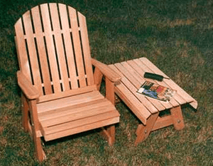 Creekvine Designs Patio Furniture Creekvine Designs Cedar Fanback Patio Chair