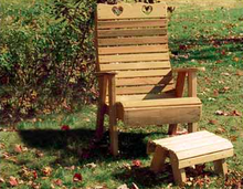 Creekvine Designs Patio Furniture Creekvine Designs Cedar Royal Country Hearts Patio Chair & Footrest Set