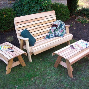 Creekvine Designs Patio Furniture Creekvine Designs Cedar Twin Ponds Bench Set