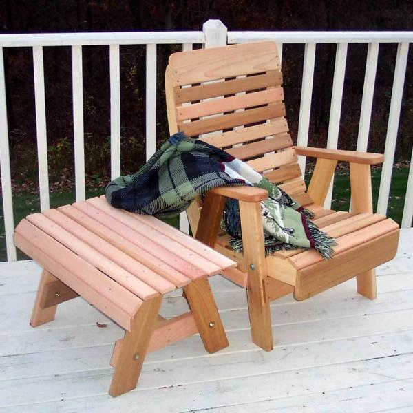 Creekvine Designs Patio Furniture Creekvine Designs Cedar Twin Ponds Chair & Table Set