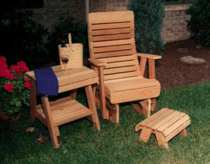 Creekvine Designs Patio Furniture Creekvine Designs Cedar Twin Ponds Rocking Glider Chair Set