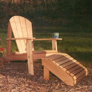 Creekvine Designs Patio Furniture Default Title Creekvine Designs Cedar Adirondack Chair & Footrest Set