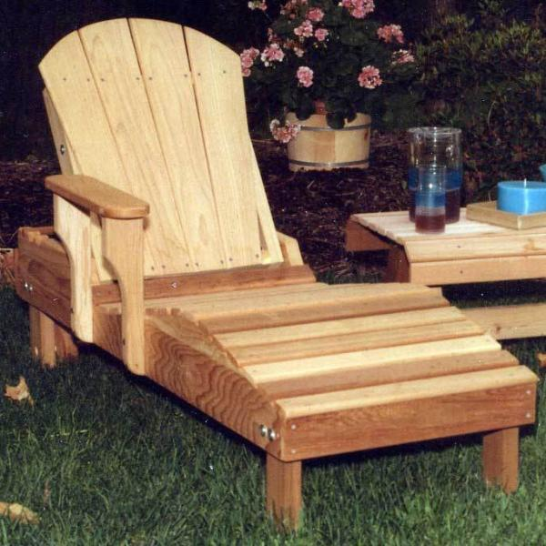 Creekvine Designs Patio Furniture Default Title Creekvine Designs Cedar Adirondack Chaise Lounge