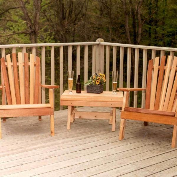 Creekvine Designs Patio Furniture Default Title Creekvine Designs Cedar American Forest Adirondack Chair Collection