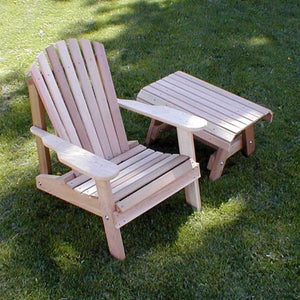 Creekvine Designs Patio Furniture Default Title Creekvine Designs Cedar American Forest Adirondack Chair & Table Set