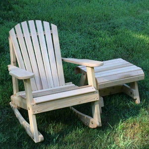 Creekvine Designs Patio Furniture Default Title Creekvine Designs Cedar American Forest Adirondack Rocker & Side Table Set