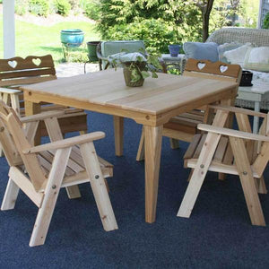 Creekvine Designs Patio Furniture Default Title Creekvine Designs Cedar Country Hearts Dining Set