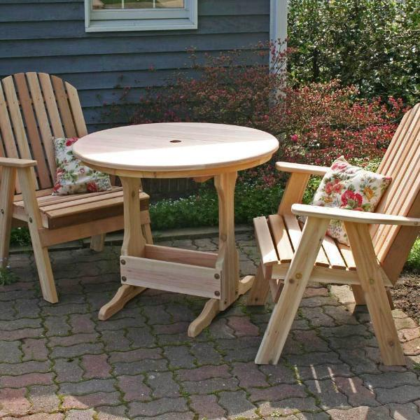 Creekvine Designs Patio Furniture Default Title Creekvine Designs Cedar Fanback Bistro Set