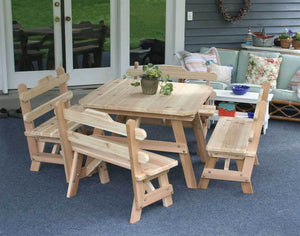 Creekvine Designs Patio Furniture Default Title Creekvine Designs Cedar Four Square Dining Set