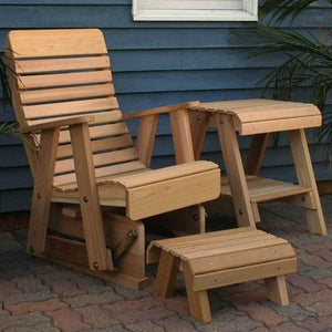 Creekvine Designs Patio Furniture Default Title Creekvine Designs Cedar Twin Ponds Rocking Glider Chair Set