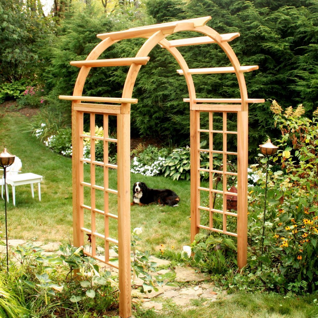 Creekvine Designs Yard Decor Creekvine Designs Cedar Arched Arbor