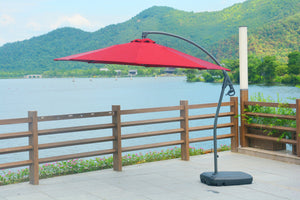 Direct Wicker Patio Furniture Red Direct Wicker - 10' Patio Cantilever Umbrella