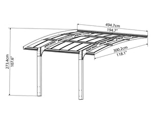 Palram Carport Palram - Arizona Breeze 5000 Carport