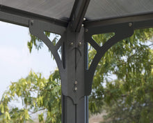 Palram - Palermo 4300 Gazebo 14' x 14' Gray/Bronze - Upgraded Outdoor Living
