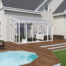 Palram Patio Cover 10' x 14' Palram - SanRemo Patio Enclosure - White with Screen Doors - Multiple Sizes