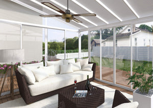 Palram - SanRemo Patio Enclosure - White with Screen Doors - Multiple Sizes - Upgraded Outdoor Living
