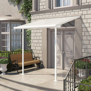Palram - Sierra Patio/Door Cover - 8' x 8' White/Clear - Upgraded Outdoor Living