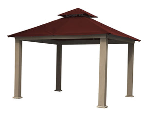 Riverstone Industries Gazebo Maroon Riverstone Industries - 12 FT SQ ACACIA SunDURA Gazebo