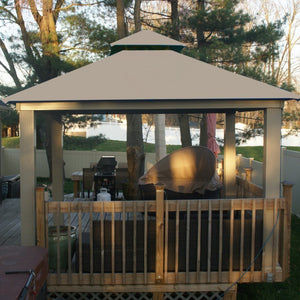 Riverstone Industries - 12 FT SQ ACACIA OutDURA Gazebo - Upgraded Outdoor Living